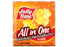 Jolly Time All in One Popcorn Kits. Portion packets with kernels, popping oil and salt for 6oz, 8oz and 12oz popcorn machines thumbnail
