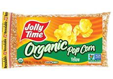 Jolly Time Organic Yellow Popcorn Kernels. USDA certified organic, non-GMO popcorn. Whole grain, high in fiber and gluten free thumbnail