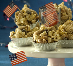 Healthy Popcorn Peanut Butter Cups